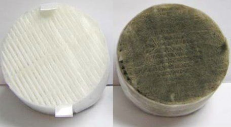 Image comparison of clean vs dirty HEPA filter