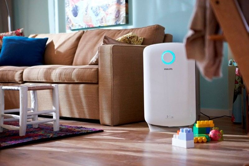 air purifier in living room image