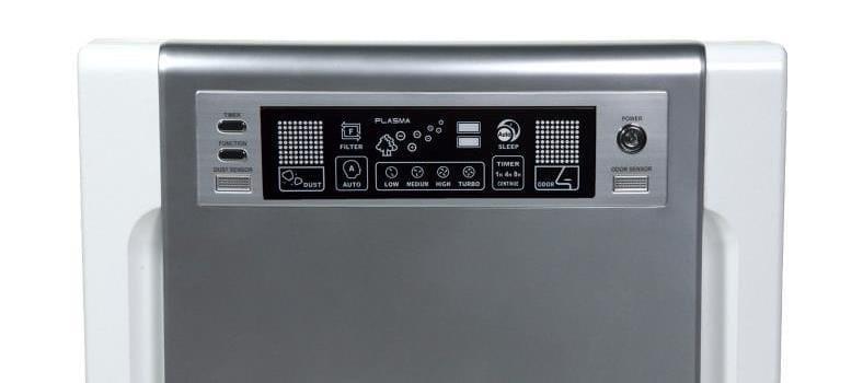 Winix WAC 9500 control panel closeup