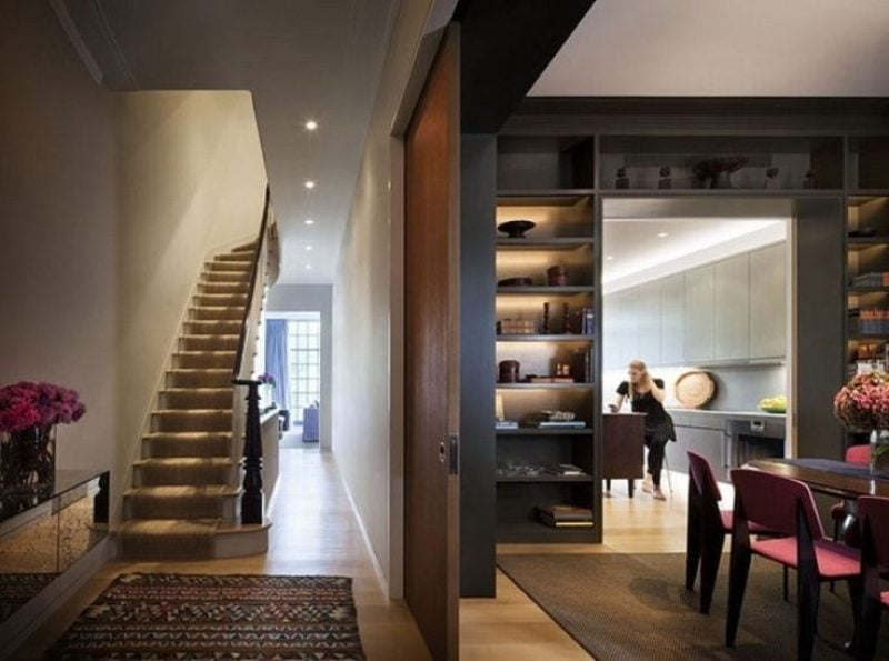 Interior of a townhouse