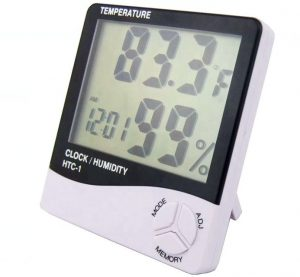 Digital thermometer and humidity gauge example image