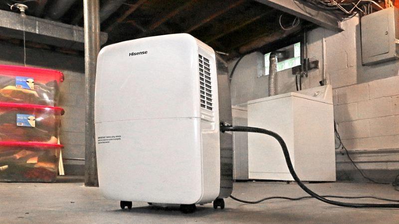 Dehumidifier in basement image