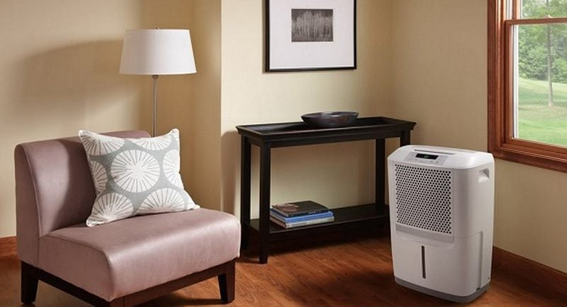 Dehumidifier in living room example