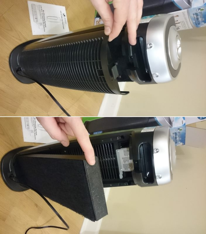 GermGuardian AC4825 filter removal image