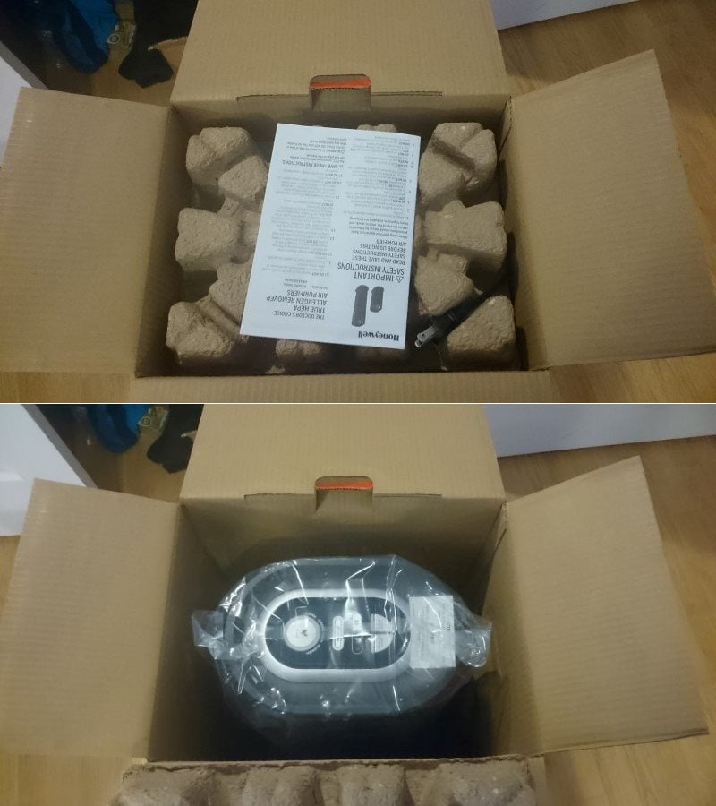 Honeywell HPA 160 unboxing packaging image