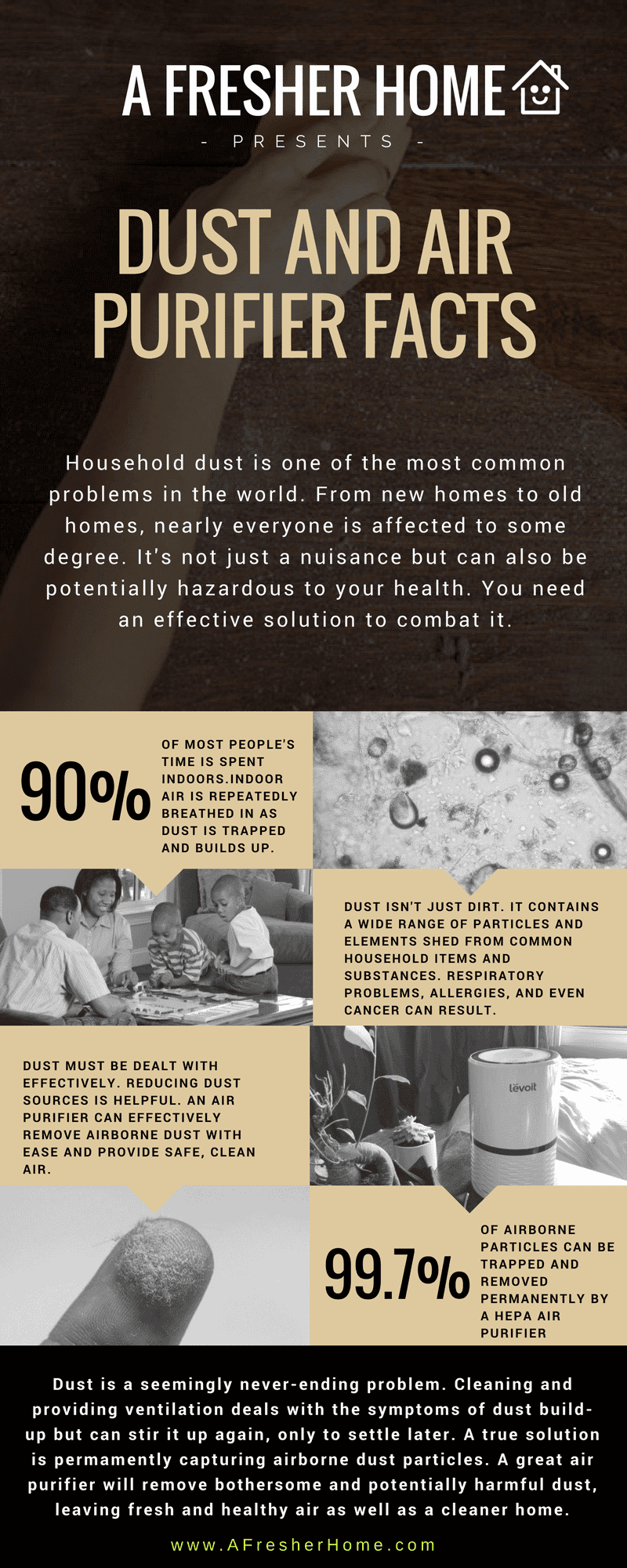 Do air purifiers reduce dust infographic