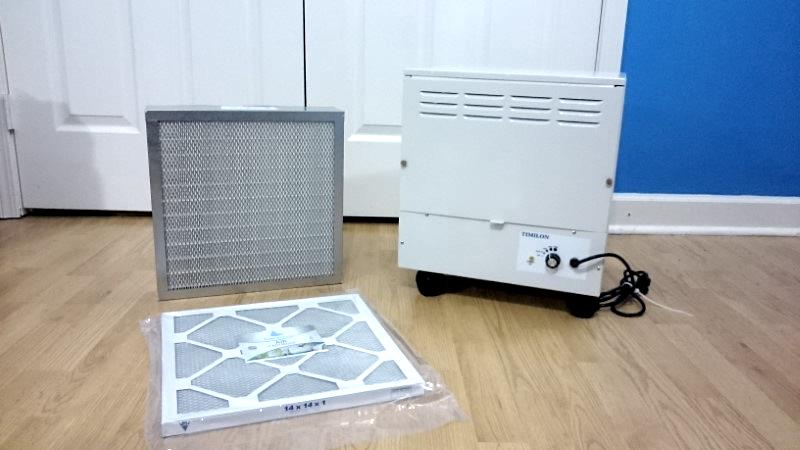 Enviroklenz air purifier with filters example image