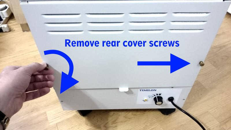 Enviroklenz mobile rear cover removal diagram