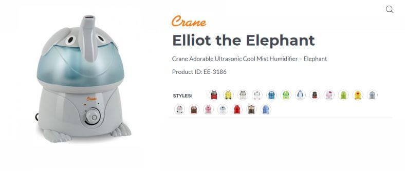 Crane Ellito elephant humidifier product image