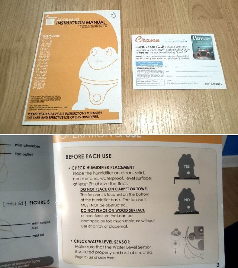 Crane elephant humidifier manual