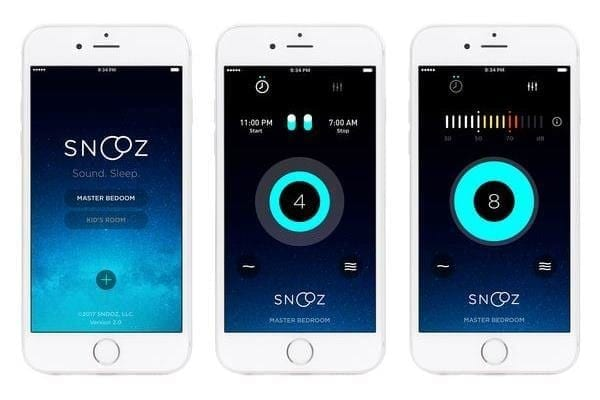 Snooz white noise machine phone app image
