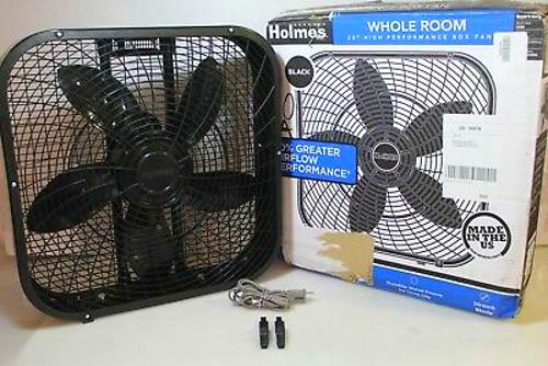 Image of Homes HBF2001DP-BM black box fan included items