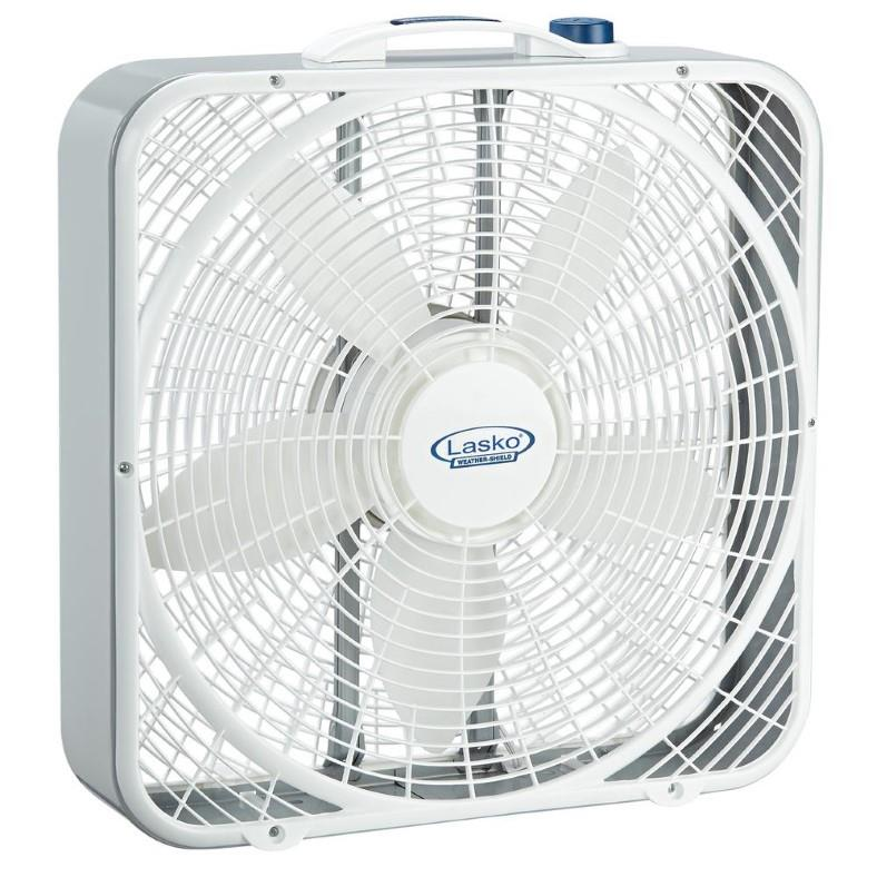 Lasko 3720 Weather Shield box fan front image