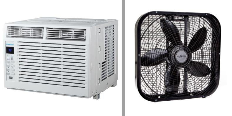 AC vs fan electricity tested models image