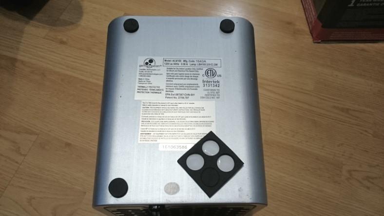 GermGuardian AC4100 set up foam pads image