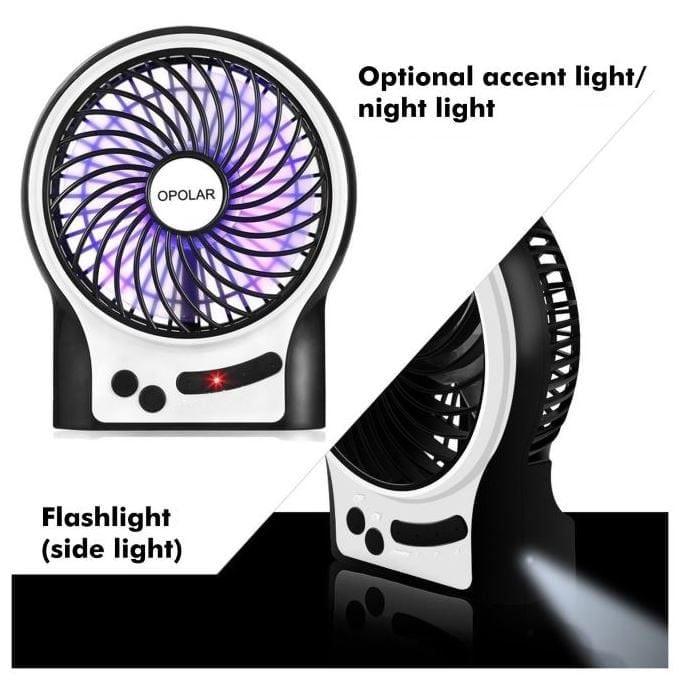 Opolar portable fan light features image