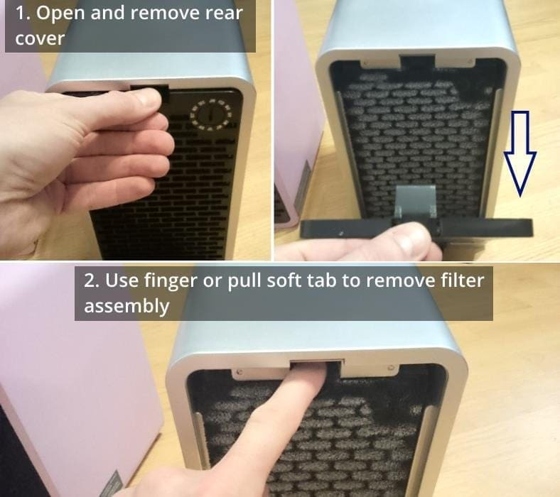 GermGuardian AC4100 filter replacement how to image