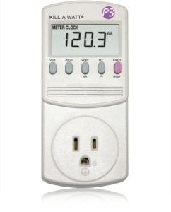Kill-A-Watt P4400 energy meter example