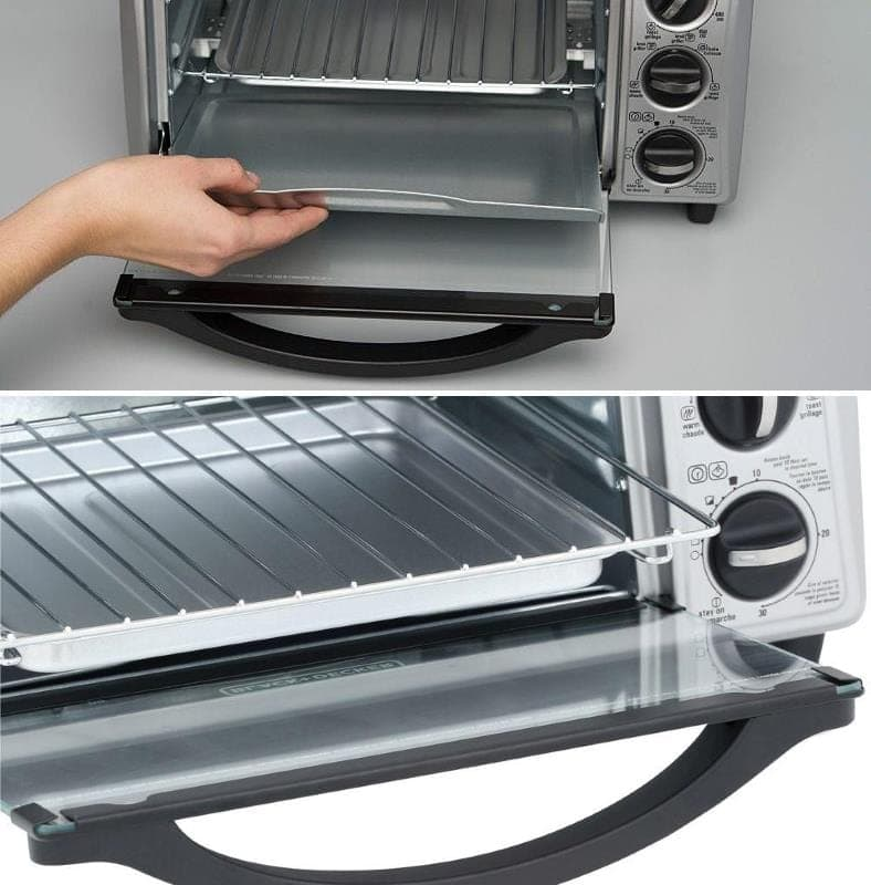Black and Decker 4 slice toaster oven removable trays
