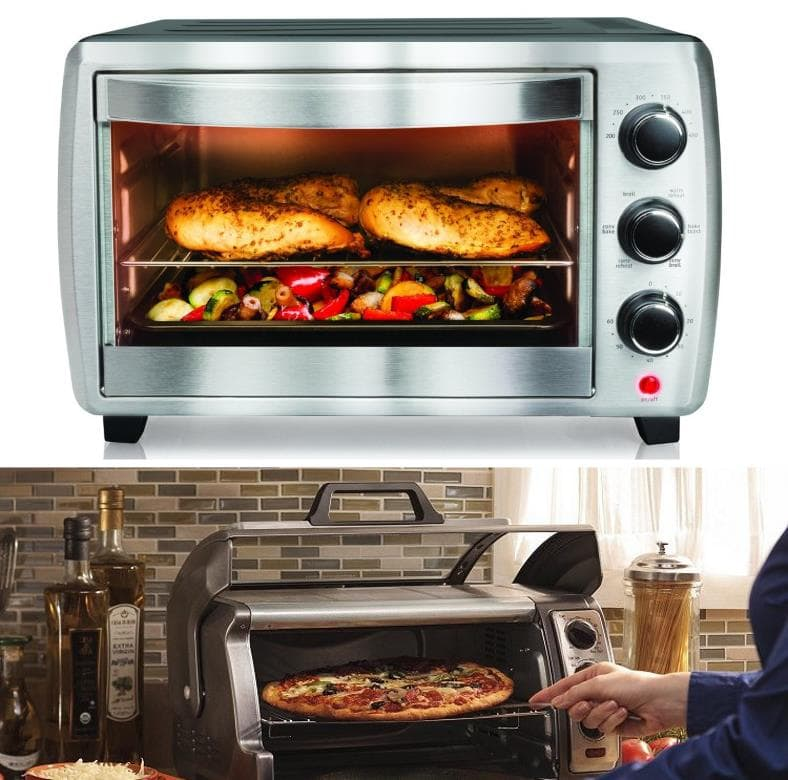 Example of foods to be cooked in a toaster oven