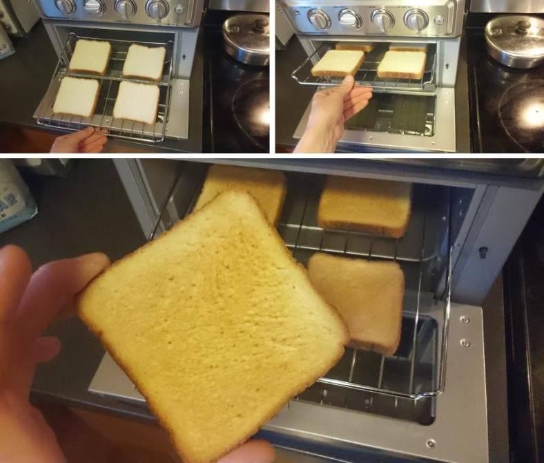 Cuisinart toasted bread test results