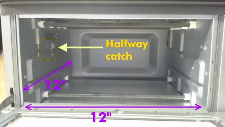 Cuisinart TOA-60 toaster oven interior measurements