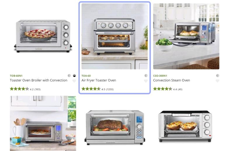 Cuisinart toaster oven family image with TOA-60