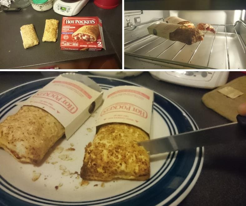 Cuisinart TOA-60 Hot Pockets cooking test