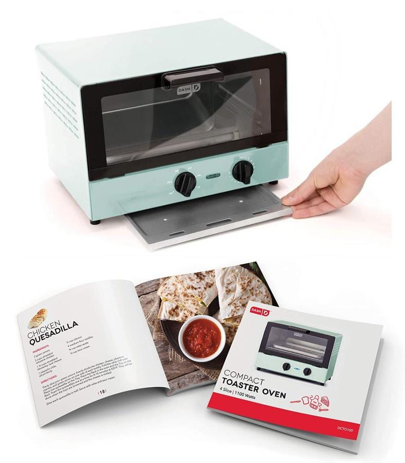 Dash Compact toaster oven included items