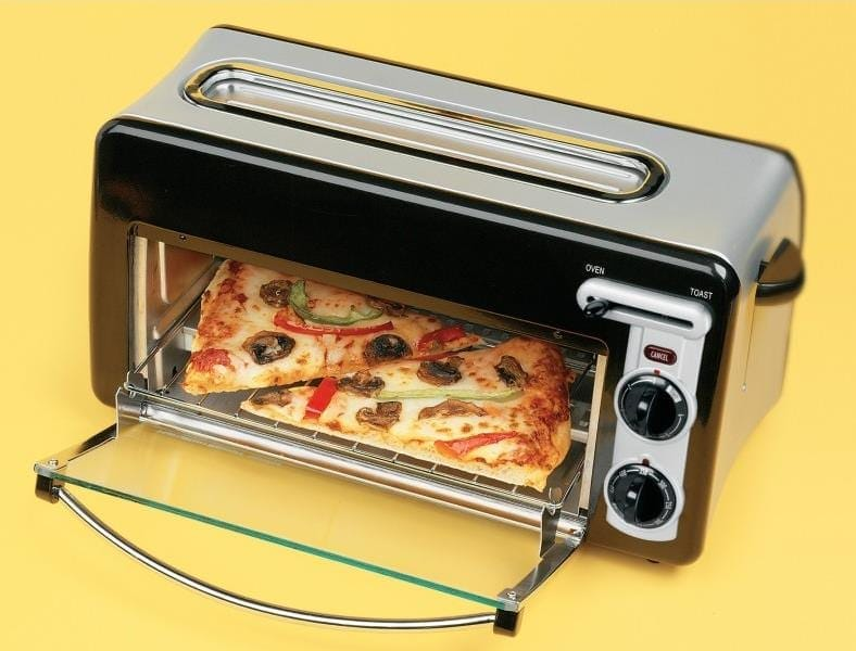 Hamilton Beach toaster 2 slice oven pizza example