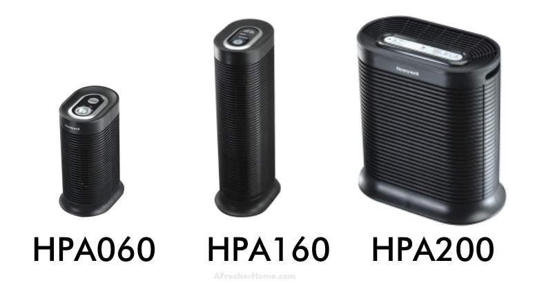 Honeywell HPA060 vs HPA160 vs HPA200 comparison image