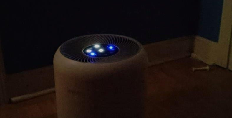 Image showing Levoit Core 300 air purifier in a dark room