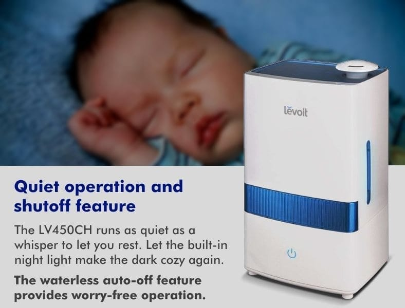 Levoit LV450CH humidifier night baby features diagram