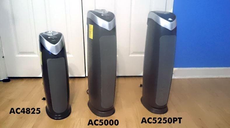 GermGuardian AC4825 vs AC5000E vs AC5250PT image