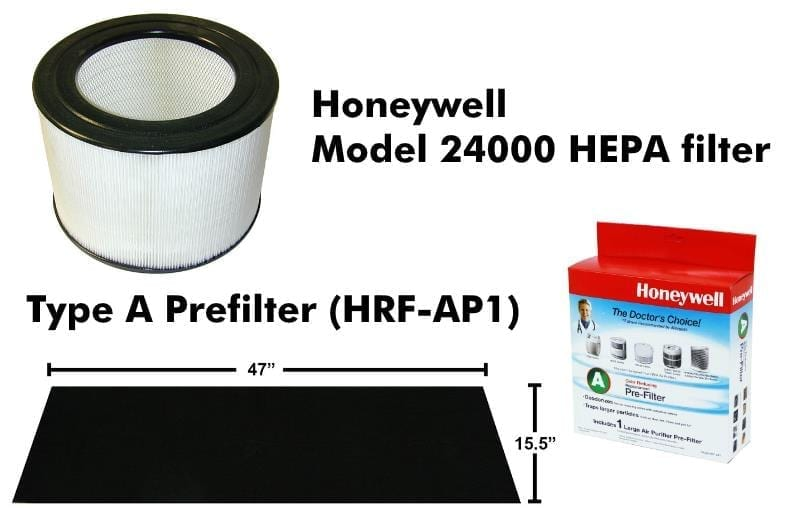 Honeywell 50200 series purifier replacement filter examples