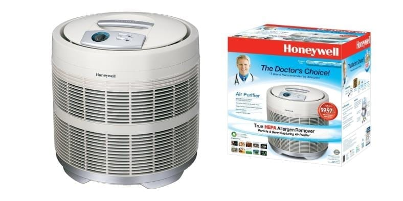 Featured product image for Honeywell 50250-S true HEPA purifier and box