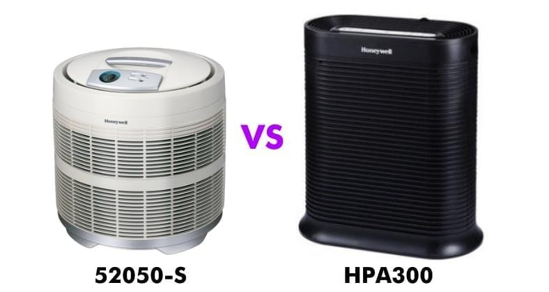 Honeywell 50250 vs HPA300 comparison image