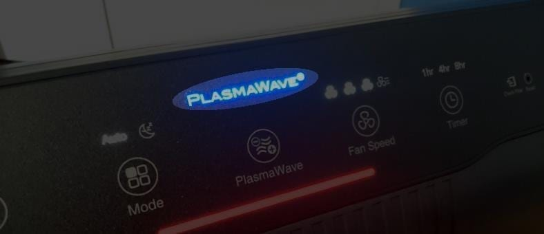 Winix 5500-2 PlasmaWave logo glowing example