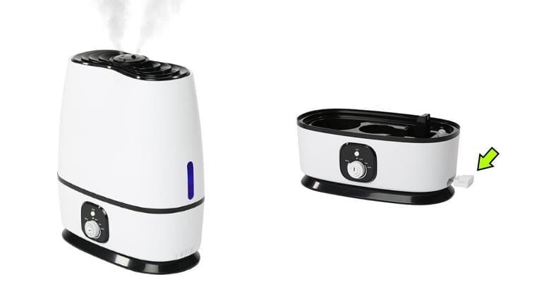 Image of cool mist humidifier essential oil tray example
