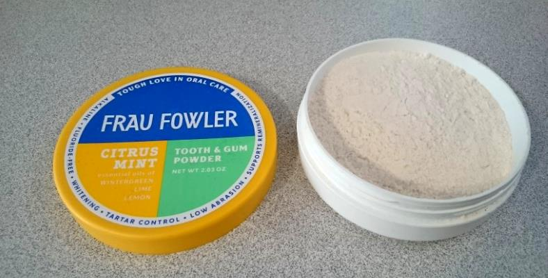 Image of Frau Fowler Citrus Mint tooth and gum powder