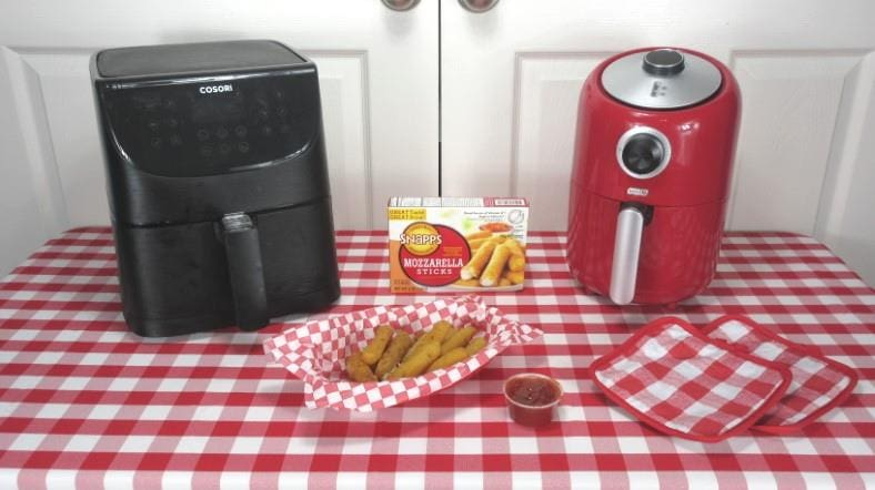 Featured image for how to cook frozen mozzarella sticks in an air fryer