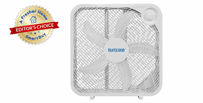 Hurrican Classic Series box fan with Editor's Choice badge in image