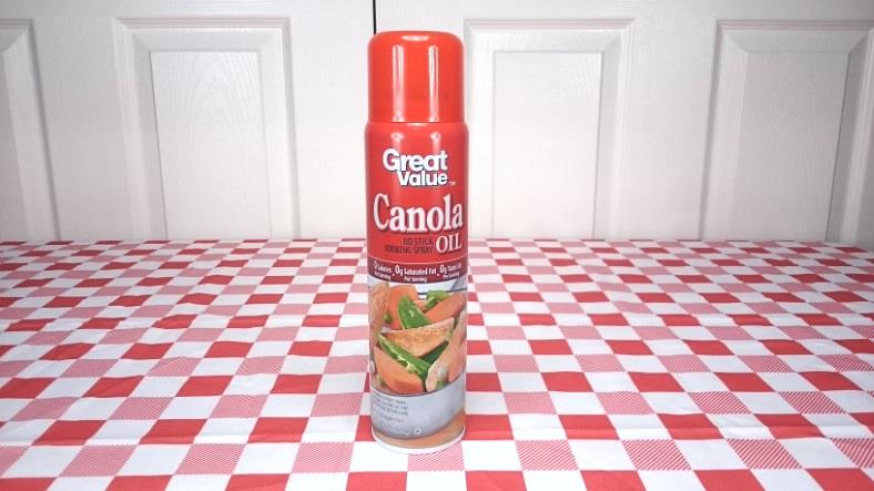 Image showing an example can of canola oil cooking spray for air fryer use