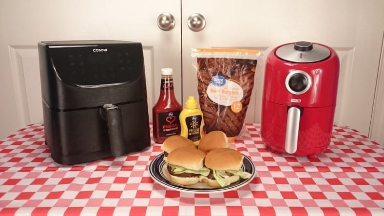 How to cook frozen hamburges in an air fryer featured image