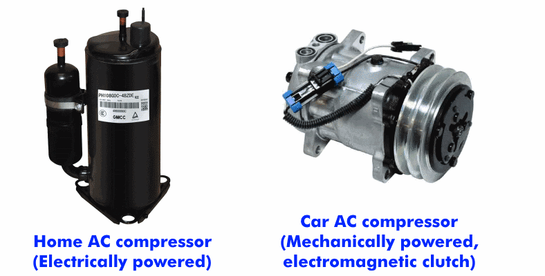 AC compressor examples with descriptions