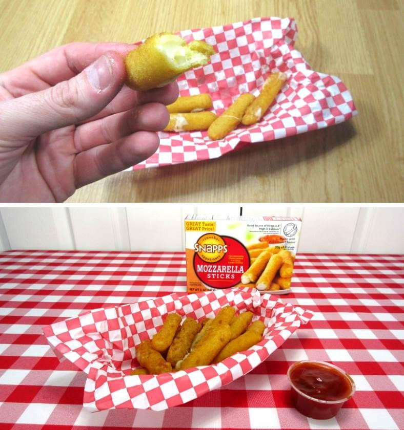 Image showing properly served cheese sticks served on display
