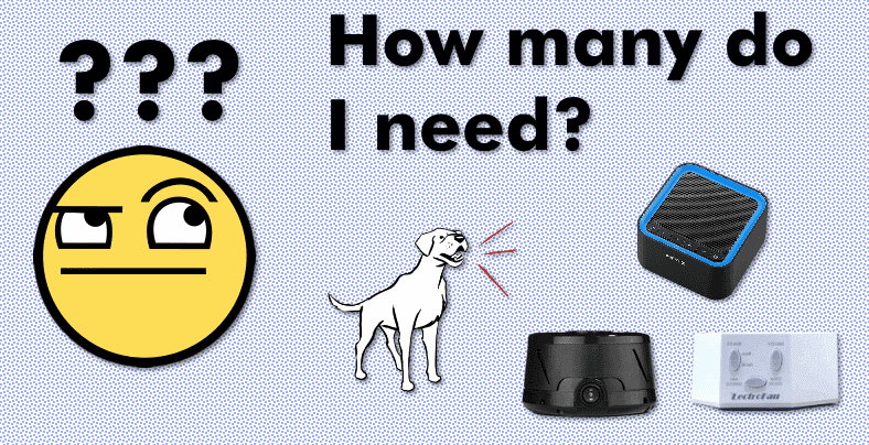 How many white noise machines for dog barking question clip art