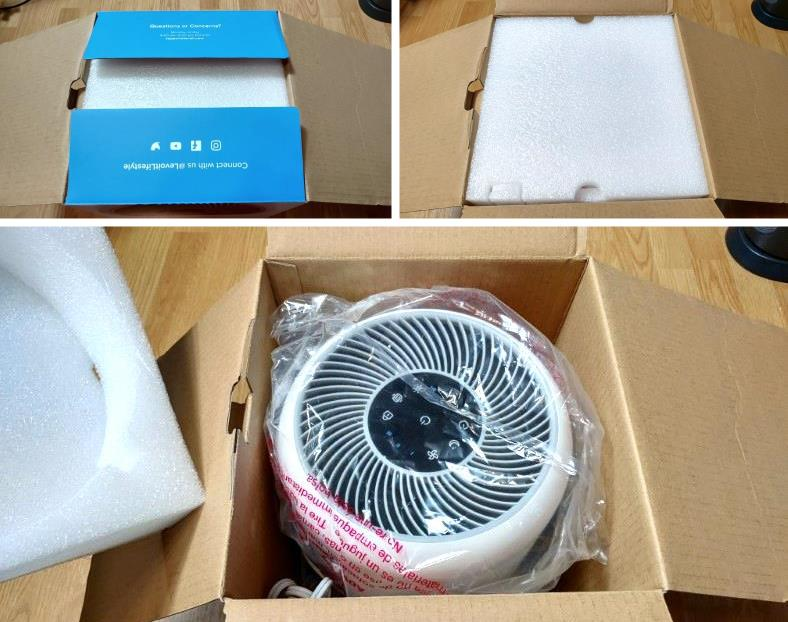 Image of unboxing of Levoit Core 300 air purifier