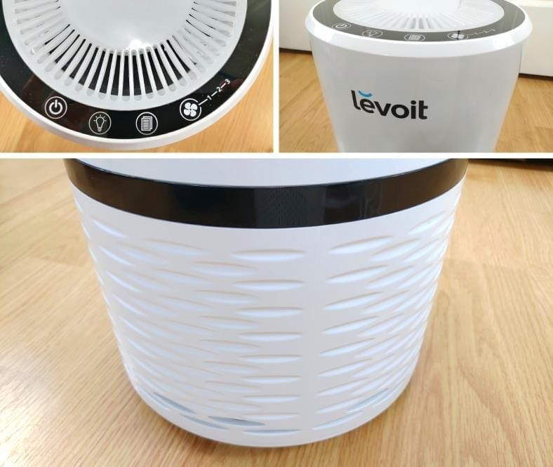 Close up images of the Levoit LV-H132 air purifier body