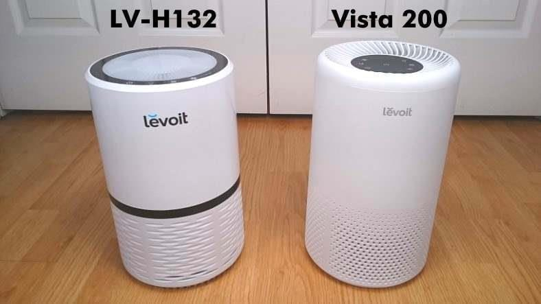 Levoit LV-H132 vs Vista 200 air purifiers front view comparison